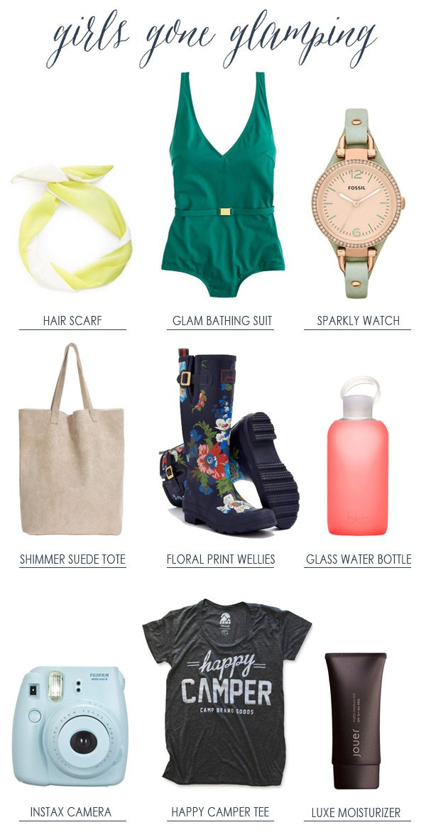 What to Pack: Girls Gone Glamping | The Sweetest Occasion