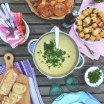 A Casual Rooftop Dinner Party + Potato Soup