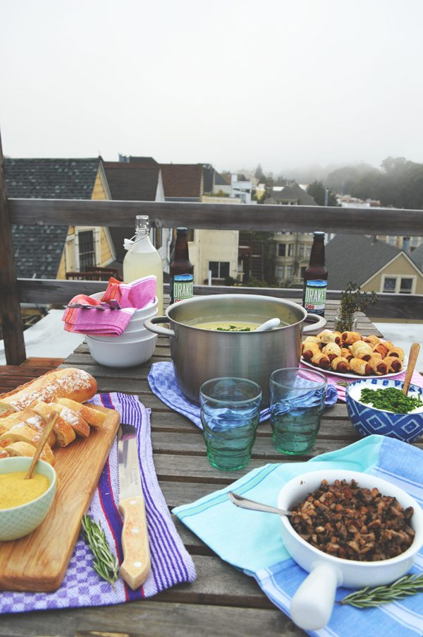 A Casual Rooftop Dinner Party