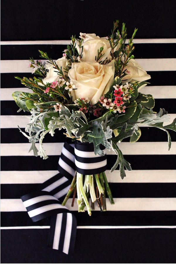 Glam Black Floral Wedding Inspiration