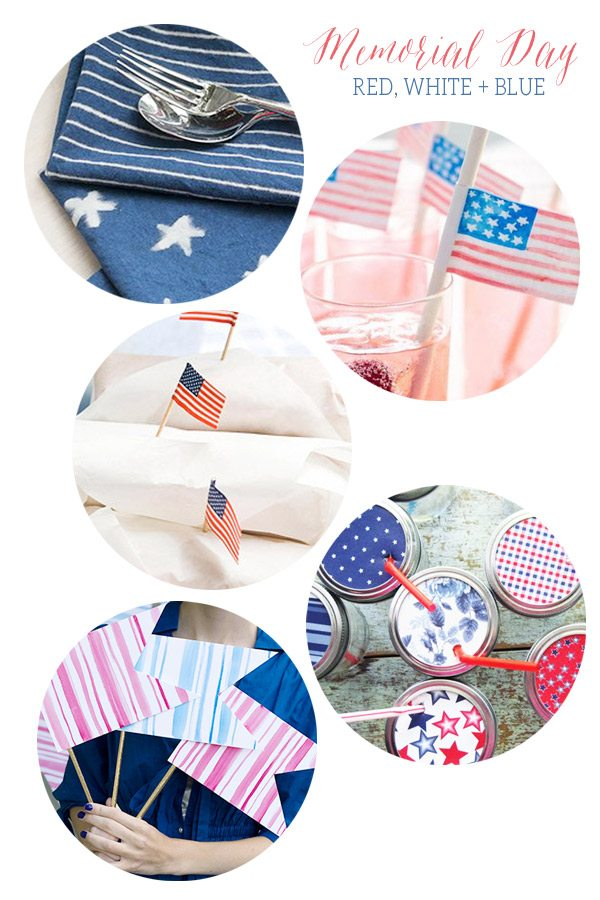 20 Red, White and Blue DIY Ideas for Memorial Day Parties