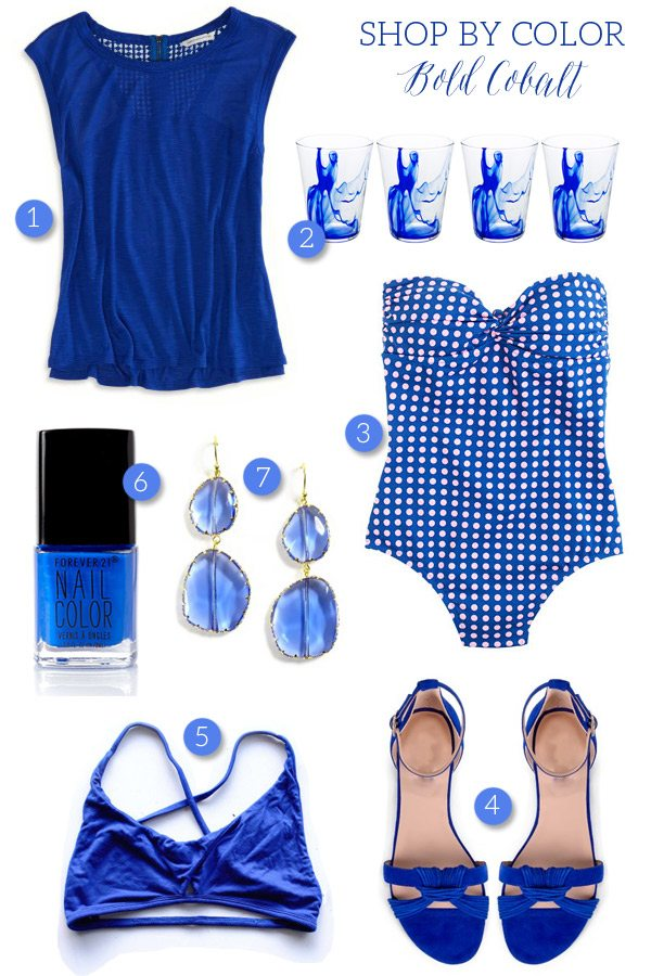 Shop by Color: Bold Cobalt