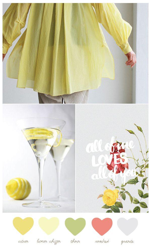 Color Palette: Citron and Rosebud