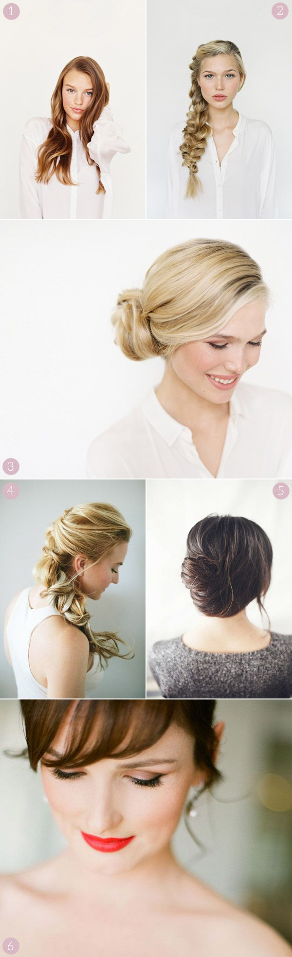 6 Pretty Wedding Hair and Makeup Looks