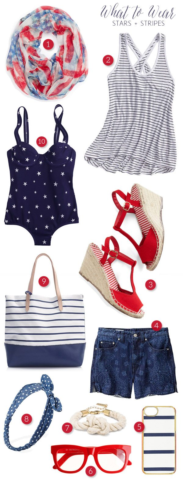 Stars and stripes fashion for the 4th of July