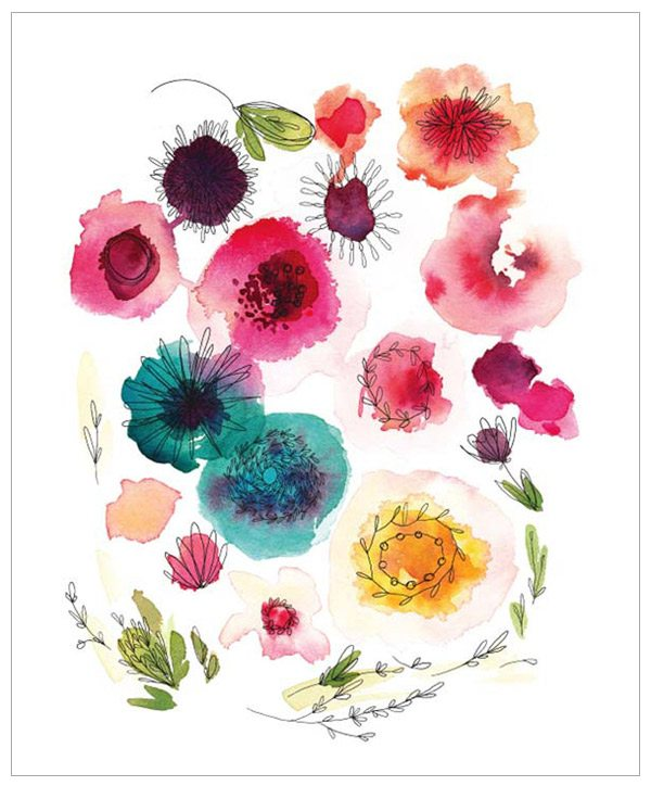 Blooms Print by Kelly Ventura