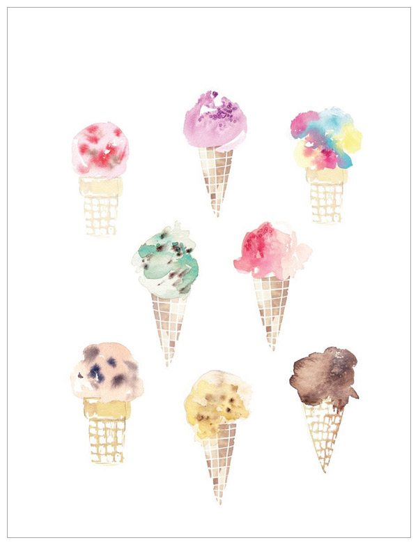 Ice Cream Print by Kelly Ventura