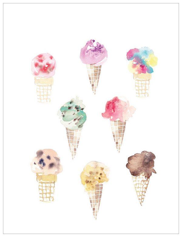 Ice Cream Print by Kelly Ventura