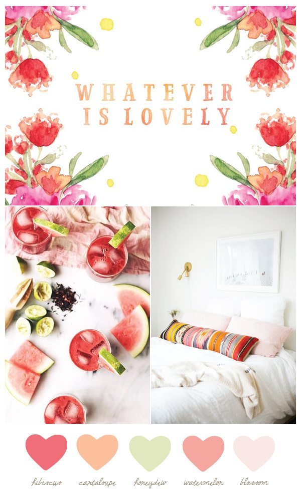 Color Palette: Hibiscus and Honeydew