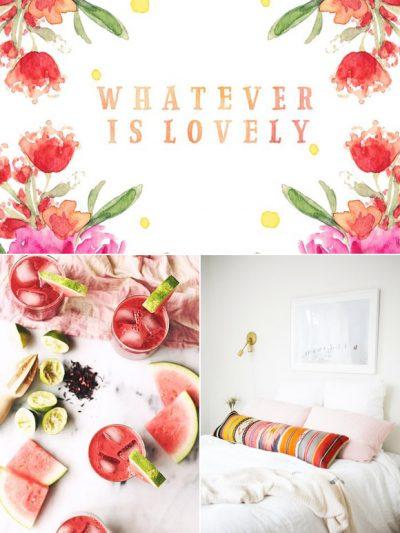 Color Palette: Hibiscus + Honeydew thumbnail