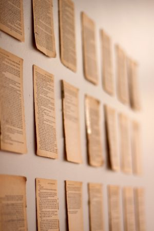 Vintage Book Pages as Wall Decor