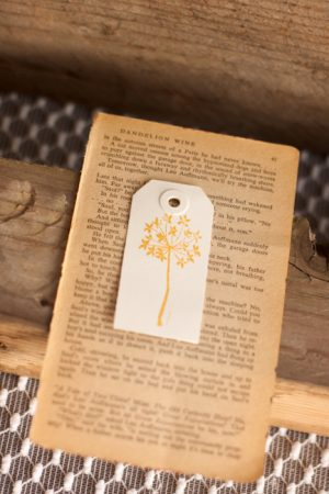 Vintage Dandelion Wine Book Pages