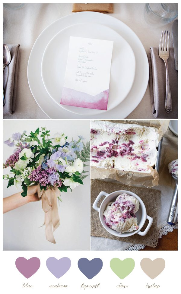 Color Palette: Lilac and Hyacinth