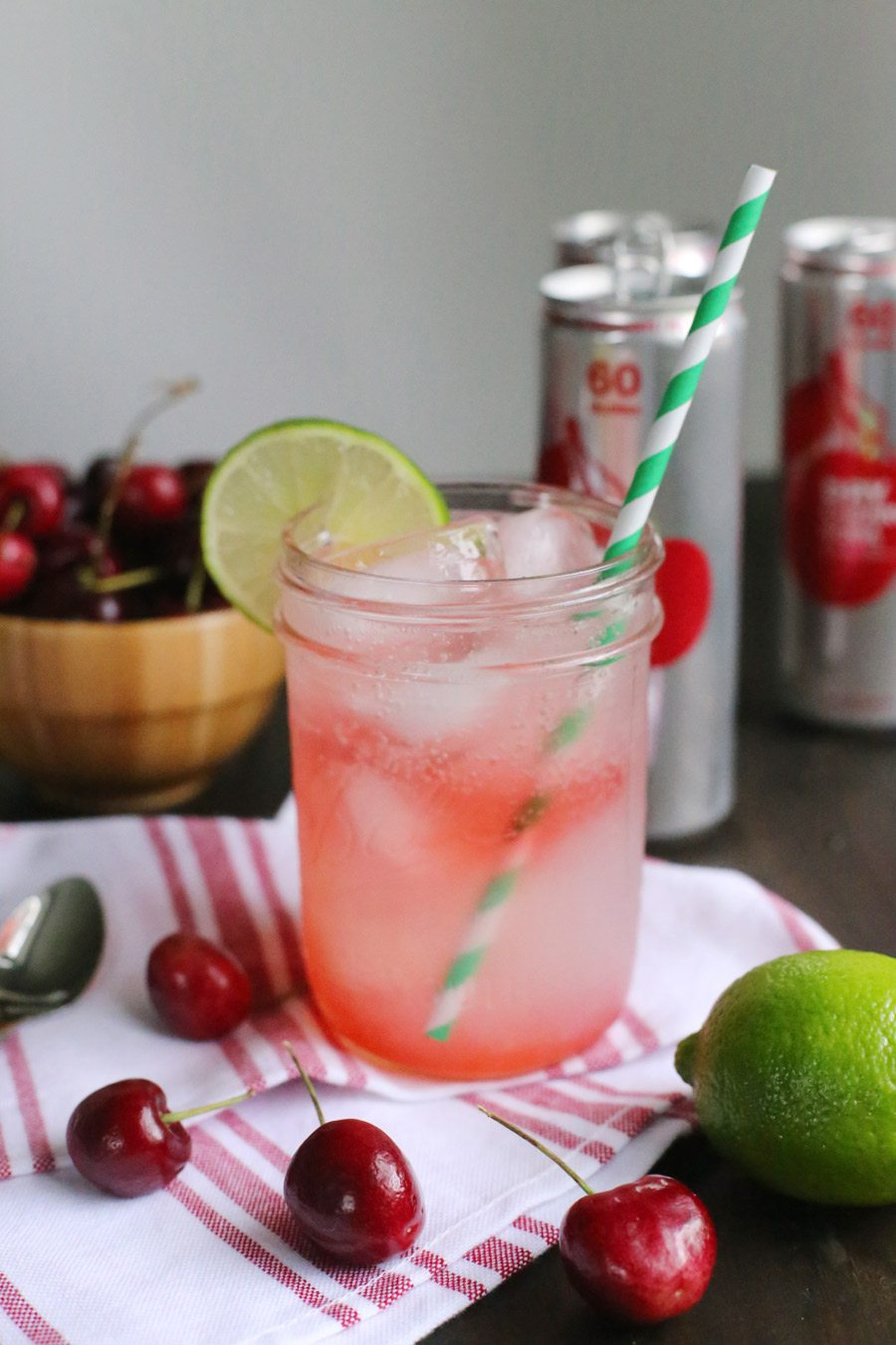 Spiked Cherry Limeade | by @cydconverse of The Sweetest Occasion