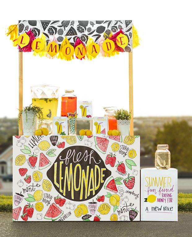 summer lemonade stand printables the sweetest occasion. Black Bedroom Furniture Sets. Home Design Ideas