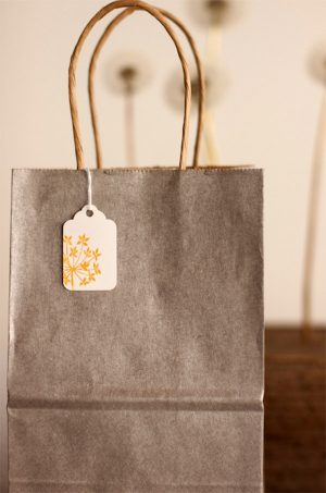 Gray and Yellow Favor Bags