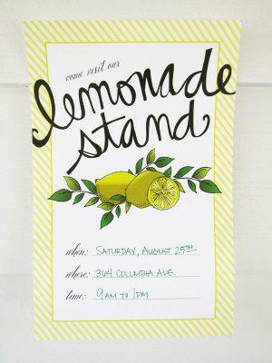 Printable Lemonade Stand Sign