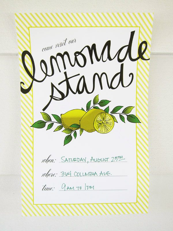 Summer Lemonade Stand Printables - 75.8KB