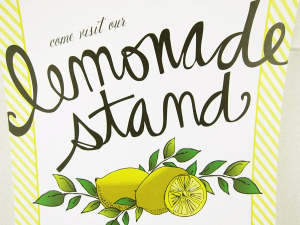 Adorable image in lemonade sign printable