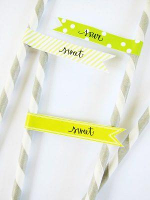 Printable Lemonade Stand Straw Flags