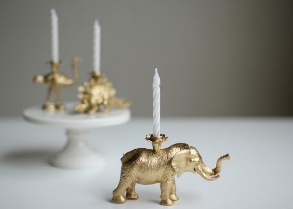 DIY Party Animal Candles from @cydconverse