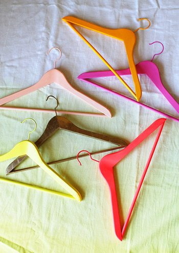 DIY Colorful Painted Wooden Hangers
