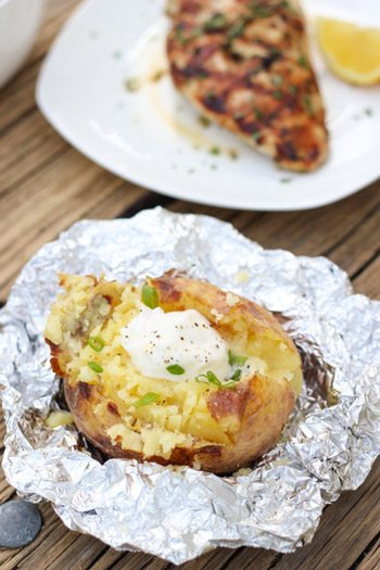 Campfire Baked Potato
