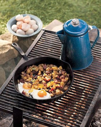 Campfire Eggs and Hash