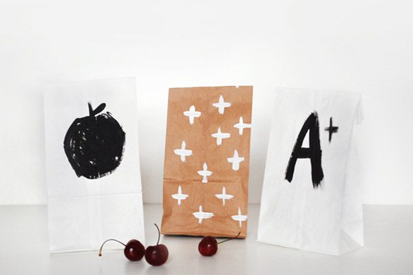 DIY Painted Lunch Sacks