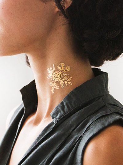 Loving Metallic Gold Temporary Tattoos thumbnail
