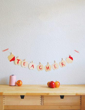 DIY Wooden Apple Garland