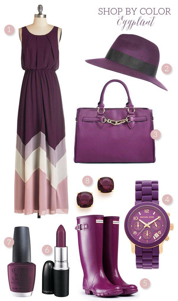 Shop by Color: Eggplant
