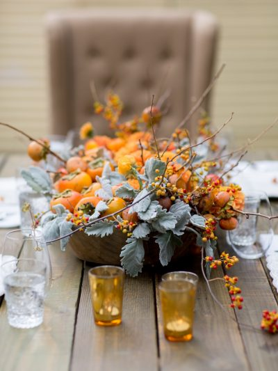 A Pretty Persimmon Fall Centerpiece thumbnail