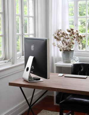 Cozy Black, White and Neutral Office