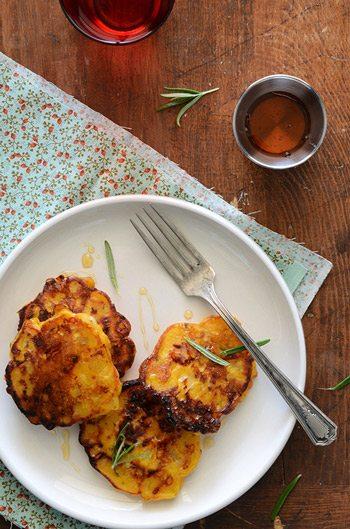 Savory Pumpkin Cheddar Pancakes