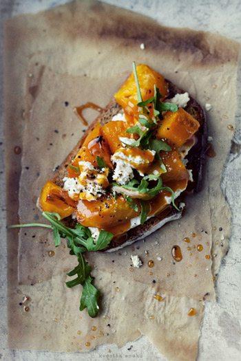 Roasted Pumpkin Toasts