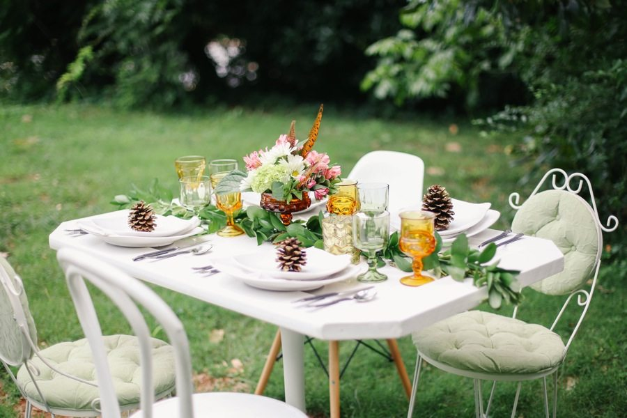 Outdoor Dinner Party Ideas Part - 41: A Pretty Outdoor Fall Dinner Party