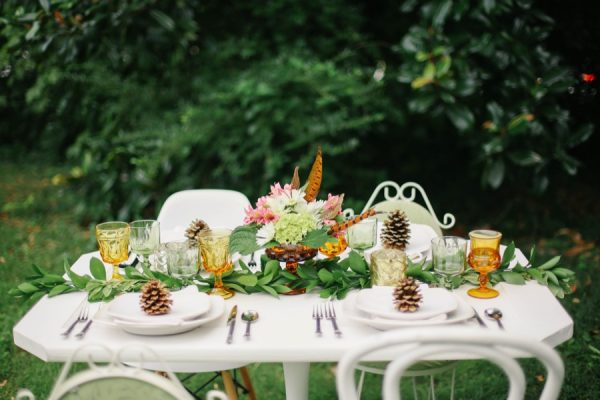 A Pretty Outdoor Fall Dinner Party