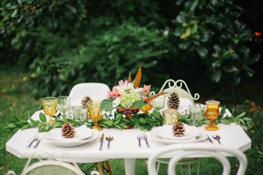 Outdoor Dinner Party Ideas Part - 34: A Pretty Outdoor Fall Dinner Party