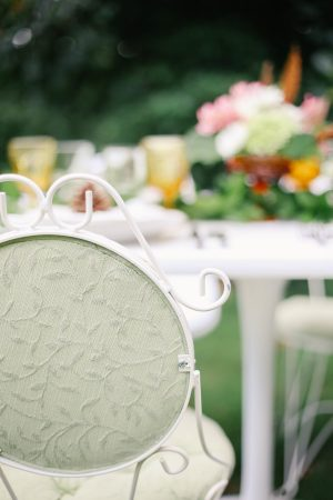 Vintage Chairs at a Pretty Outdoor Fall Dinner Party