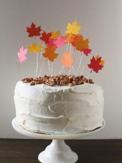 DIY Falling Leaves Cake Topper thumbnail