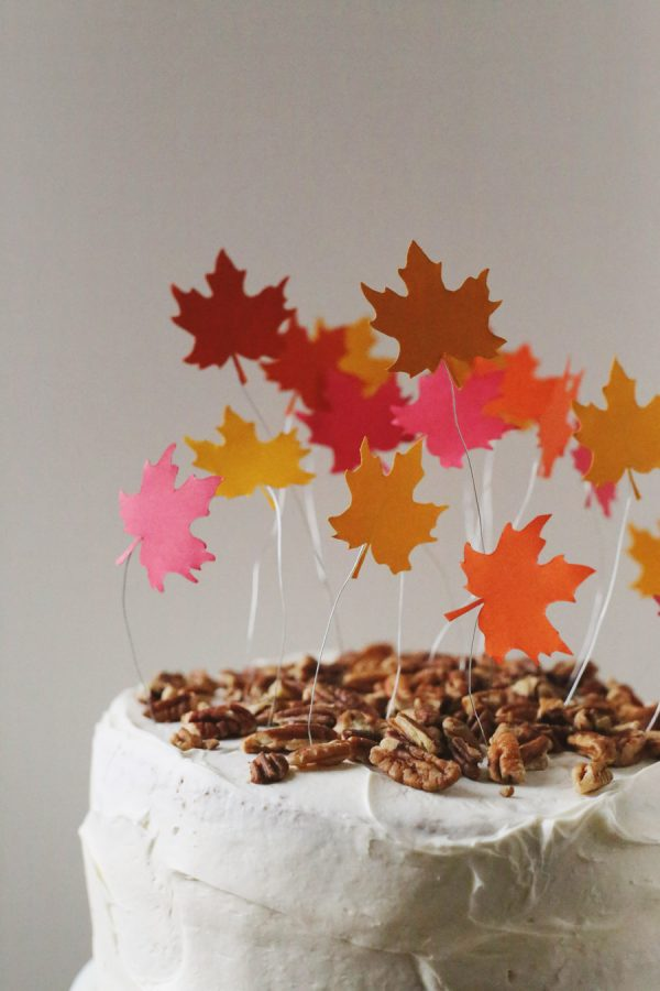 DIY Falling Leaves Cake Topper by @cydconverse