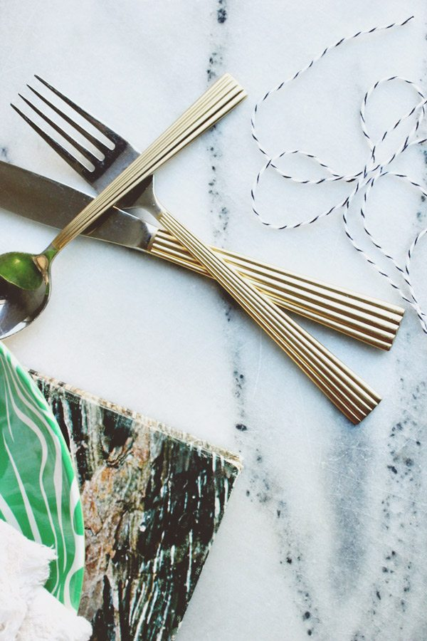 DIY Gilded Flatware by @cydconverse