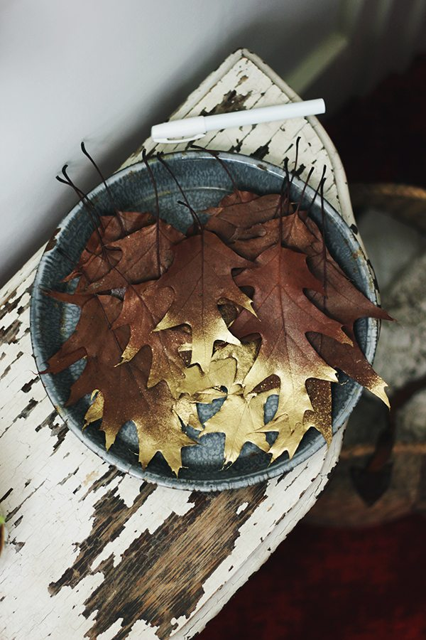 DIY Gold Leaf Garland by @cydconverse