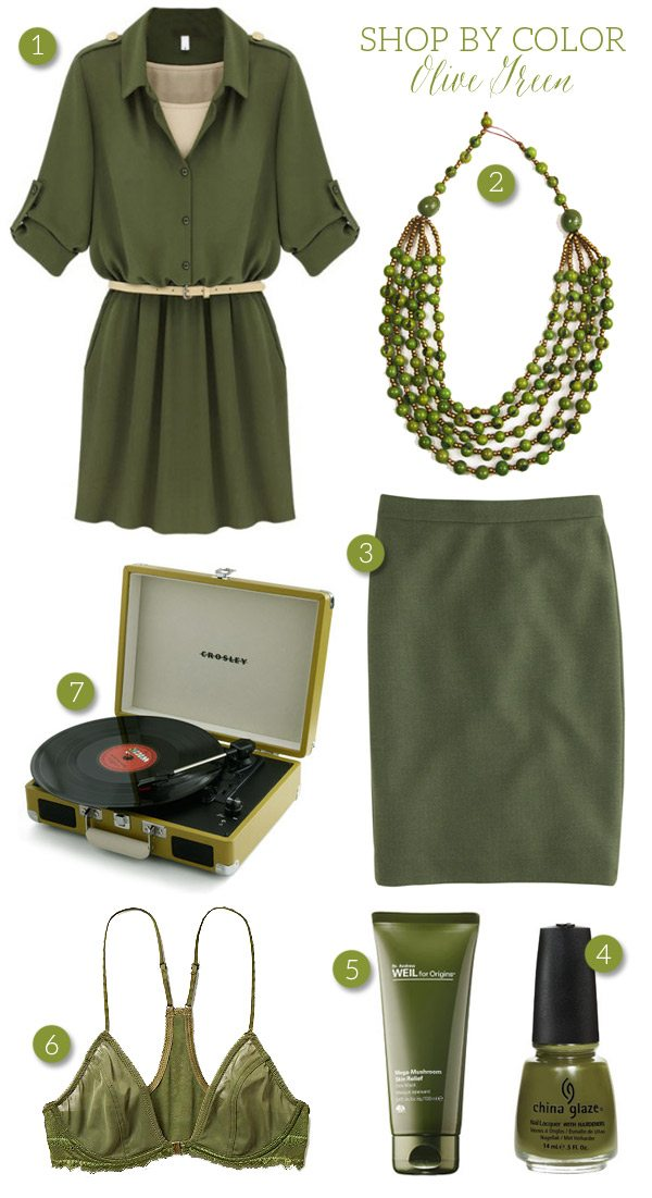 Shop By Color Olive Green