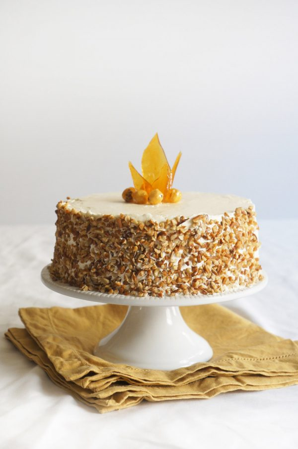 Hazelnut Cake with Apple Buttercream from @cydconverse