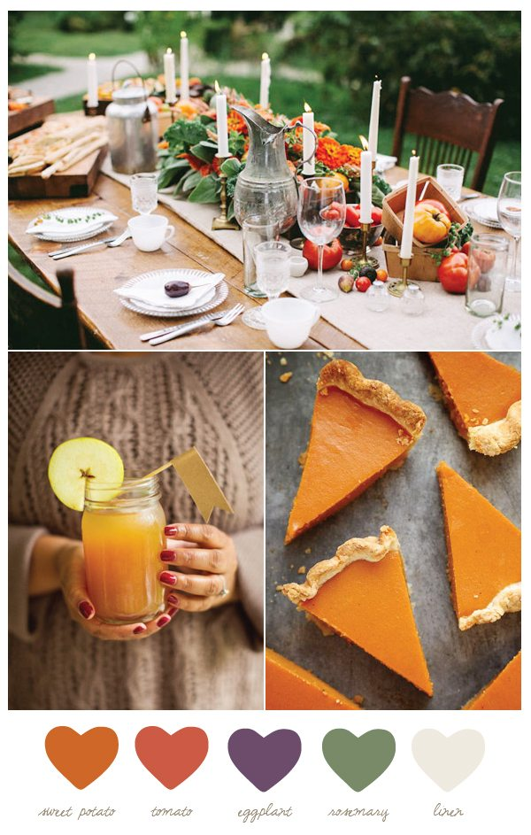 Color Palette: Sweet Potato and Tomato by @cydconverse