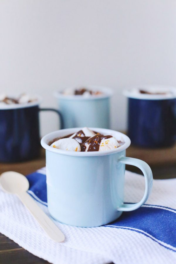 Boozy Orange Hot Chocolate by @cydconverse