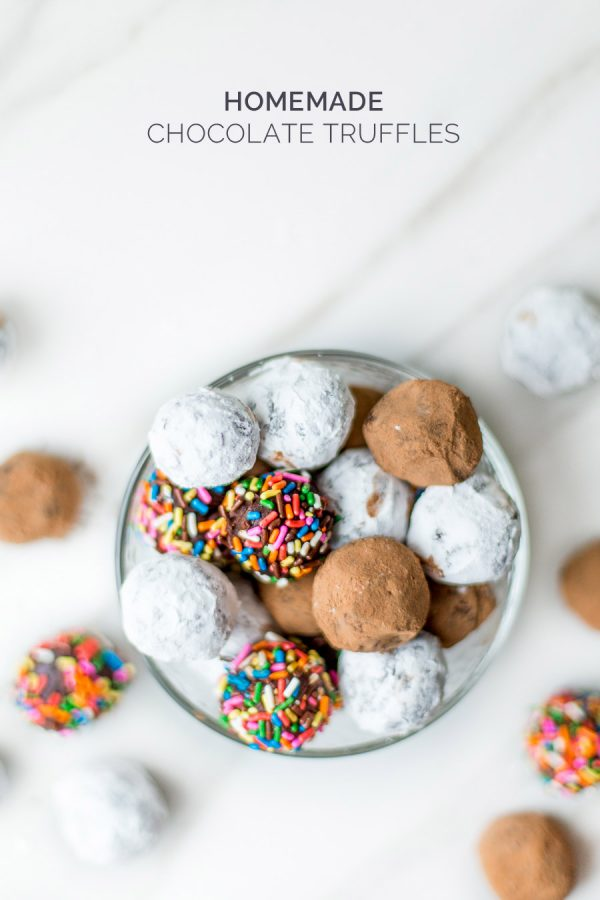 Homemade Chocolate Truffles from @cydconverse