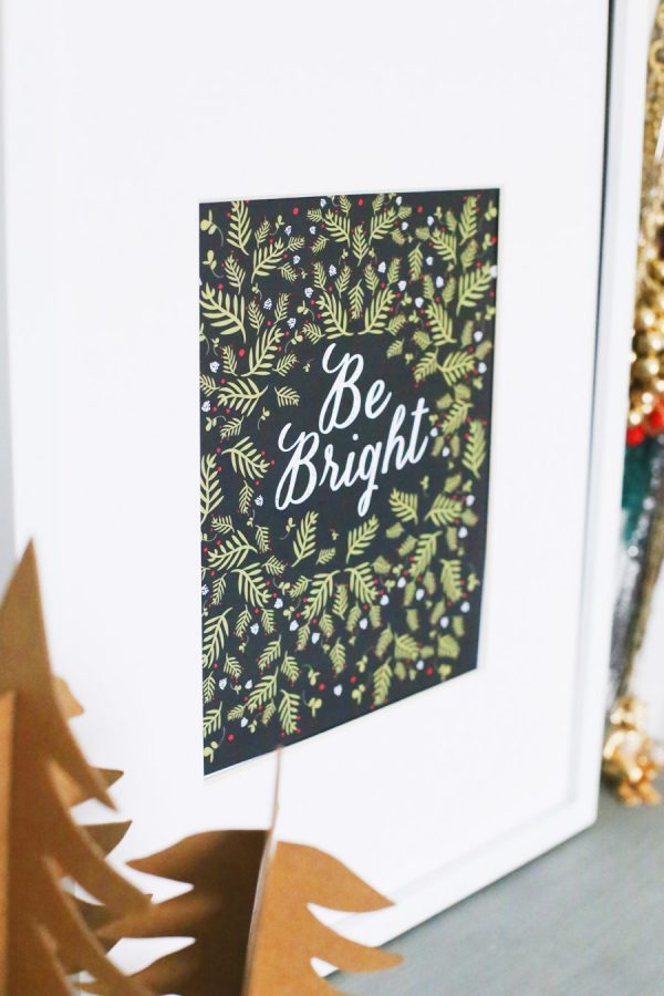 Printable Christmas Art Print from @cydconverse